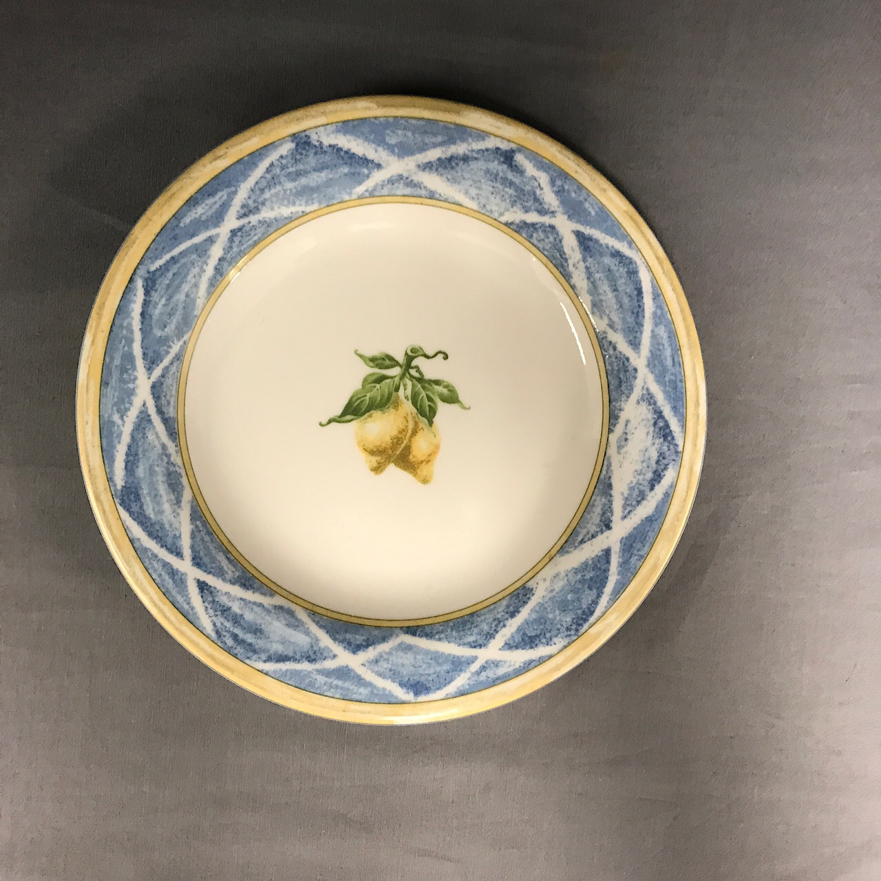 Royal Doulton Lemon Trellis Salad Plate Echo S China